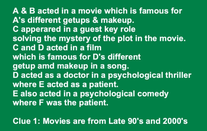 A and B Acted In a Movie Which Is Famous For Tamil Movie Riddle