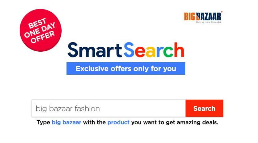 Big Bazaar Smart Search Offer Coupon