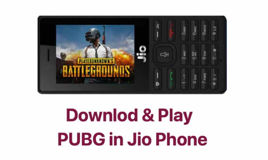 Download PUBG Game On Jio Phone Play Online