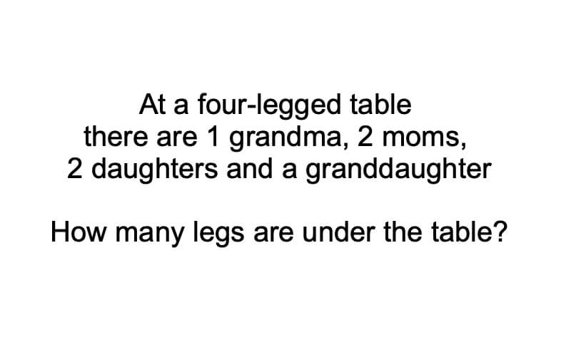 Four Legged Table Riddle