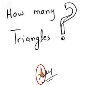 How Many Triangles Do You See Puzzle Answer