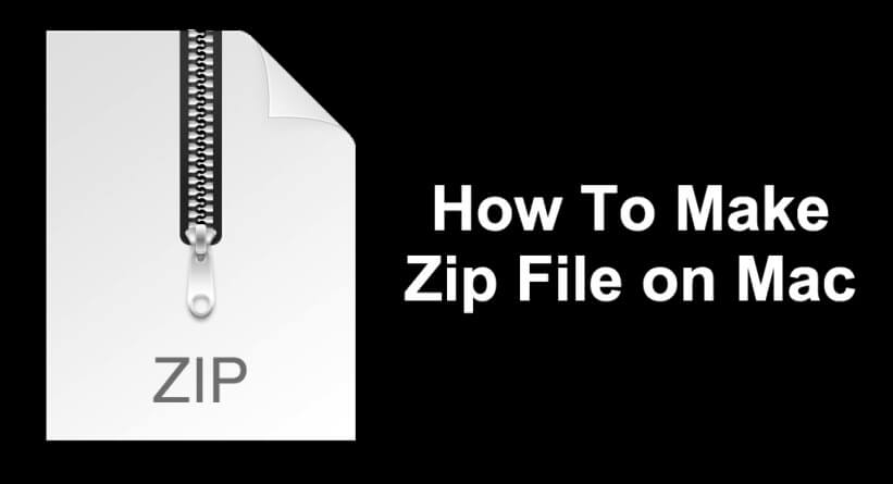 How To Make a Zip File on Mac