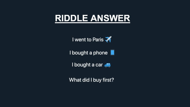 I Went To Paris I Bought A Phone Riddle