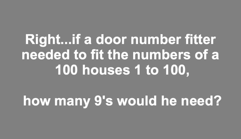 If A Door Number Fitter Riddle Answer
