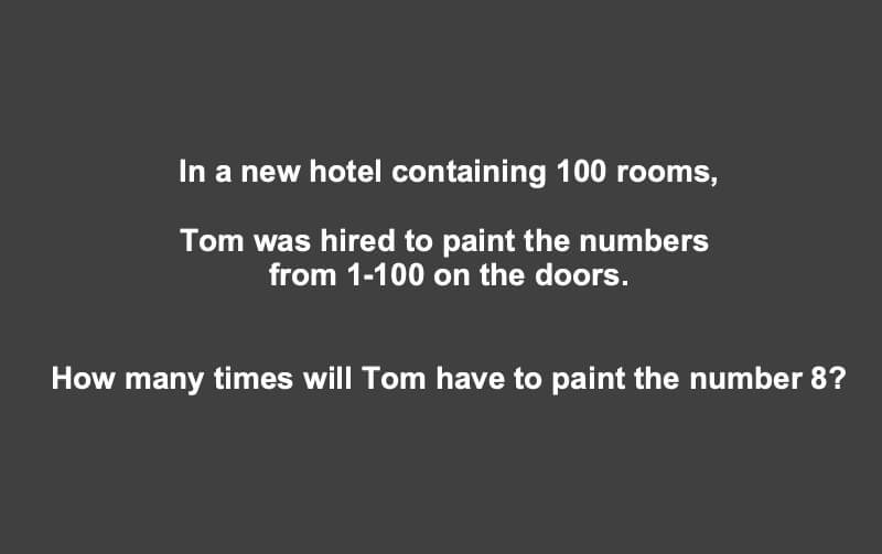 In A New Hotel Containing 100 Rooms Riddle
