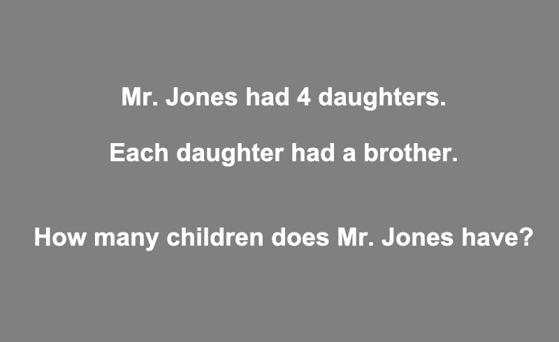 Mr Jones Had 4 Daughters Riddle