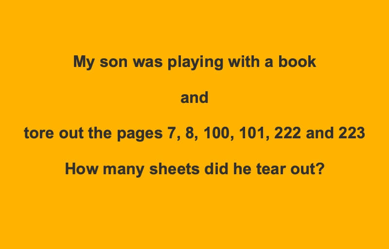 My Son Was Playing With A Book Riddle Answer