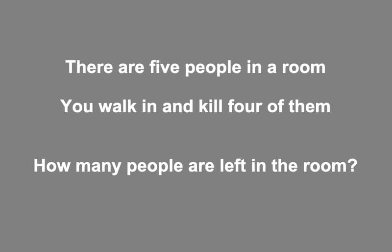 There Are Five People In A Room Riddle