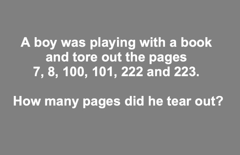 a boy was playing with a book riddle