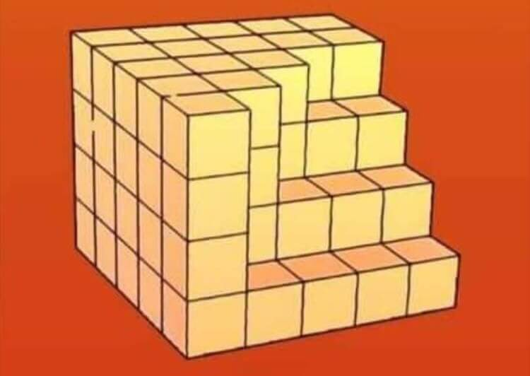 how many cubes are missing