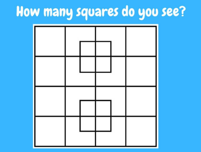 how many squares do you see